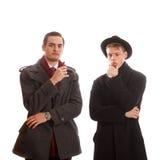 Deux hommes réfléchis Photo libre de droits