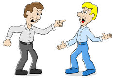 Deux hommes sont d'opinion différente Photo libre de droits