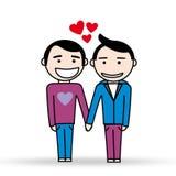 Deux homosexuels dans l'amour Photos stock