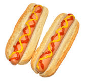 Deux hot-dogs Photographie stock libre de droits