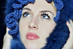 Deux œil bleu Image stock