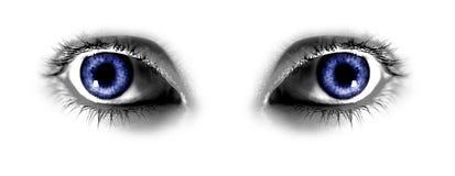 Deux œil bleu abstraits Photos stock