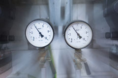 Deux indicateurs de pression Photos stock