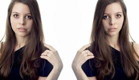 Deux individus de la même femme photographie stock