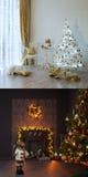 Deux intérieurs de Noël Images libres de droits