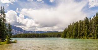 Deux Jack en parc national de Banff, Alberta, Canada Photographie stock