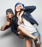 Deux jeune amie Image stock