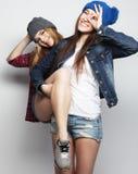 Deux jeune amie Photos stock