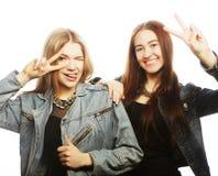 Deux jeune amie Images libres de droits