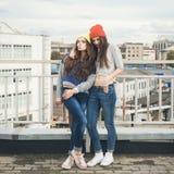 Deux jeunes amie de hippie Photos libres de droits