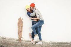 Deux jeunes amie de hippie Images stock