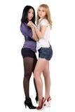 Deux jeunes amies sexy Photographie stock libre de droits