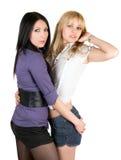 Deux jeunes amies sexy Photo libre de droits