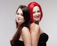 Deux jeunes amis féminins Images libres de droits