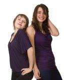 Deux jeunes amis féminins de sourire Photos stock