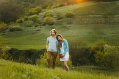Deux jeunes amoureux Photo stock