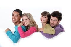 Deux jeunes couples Photos libres de droits