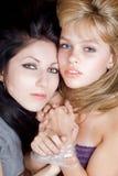 Deux jeunes femmes Image libre de droits