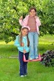 Deux jeunes filles photos libres de droits