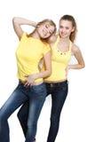 Deux jeunes filles heureuses Photographie stock
