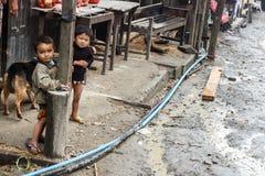 Deux jeunes garçons en Chin State, Myanmar Photos stock