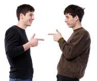 Deux jeunes hommes beaux Images stock