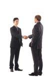 Deux jeunes hommes d'affaires dans des vêtements formels Images libres de droits