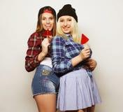 deux jeunes jolies filles de hippie Photos libres de droits