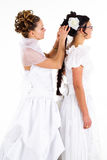 Deux jeunes mariées Images stock