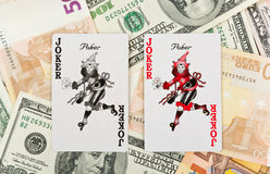 Deux jokers photographie stock libre de droits