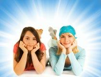 Deux jolies adolescentes Photo libre de droits