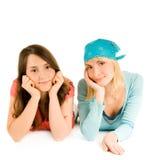 Deux jolies adolescentes Image stock