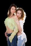 Deux jolies amies sexy Photographie stock libre de droits