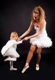 Deux jolies ballerines Image libre de droits