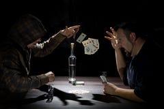Deux joueurs de carte Image libre de droits