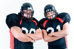 Deux joueurs de football américain Photos libres de droits
