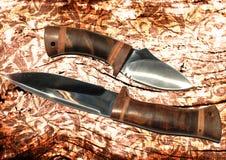 Deux knifes de chasse Image libre de droits