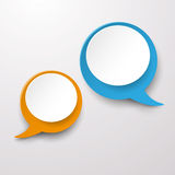 Deux labels de bulle de la parole de communication Image stock
