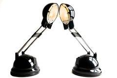 Deux lampes Images stock