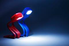 Deux lampes Photographie stock