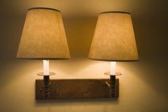 Deux lampes de mur Images libres de droits