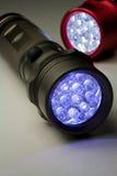 Deux lampes-torches modernes de DEL Image libre de droits