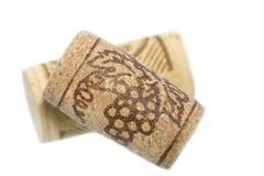 Deux lièges de vin Image stock