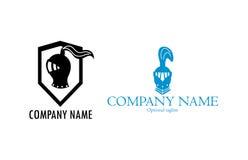 Deux logos de casque de chevalier Photographie stock