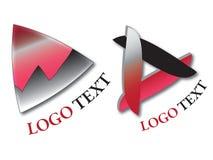 Deux logos de vecteur Image stock