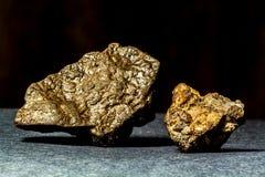 Deux météorites pierreuses Photographie stock