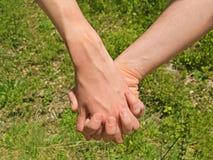 Deux mains Photo libre de droits