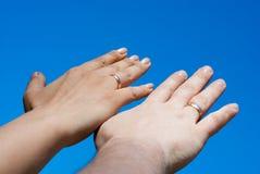 Deux mains Image libre de droits