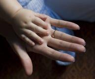 Deux mains photographie stock libre de droits