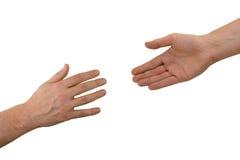 Deux mains (aide) Photographie stock